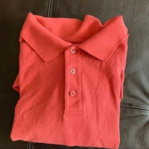 Nordstrom Men's Polo shirt Size Size XL Coral